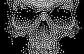 Décoration de crâne Halloween effrayant