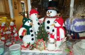 Crochet et tricot famille bonhomme de neige