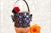 Craft recyclé idées : Comment faire utilitaire panier de recyclé Craft