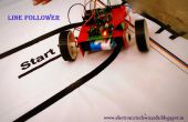 SIMPLE ligne suiveur ROBOT (capteur unique)