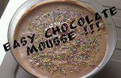 Mousse au chocolat facile!!