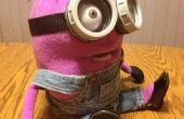 Personnalisé fait violet Minion marionnettes