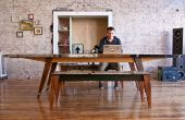 Mesa de madera sobrante