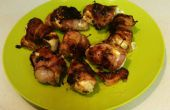 Bouchées de poulet Jalapeno enrobés de bacon