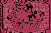 Glace rétro Piggy Ziggy graphique