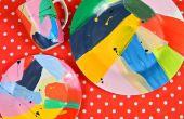 Art abstrait peint plats