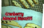 Débutant Cranberry Biscotti aux amandes
