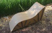 Chaise de salon en carton