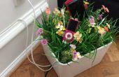 Flowerbox pour cacher les câbles et gadgets de charge