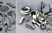 Esthétique numérique recréé dans la physique - résine RCDÉC Cast objets