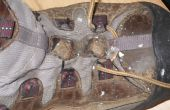 Réparation déchiré randonnée chaussure tissu oeillets facile et rapide