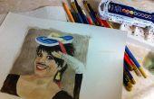 Make Art for Cheap - borrow a kid's watercolor paint