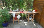 Cuisine extérieure/intérieure pour abri de jardin