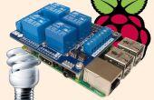 4-relais bouclier + Raspberry Pi B + (V2 B)