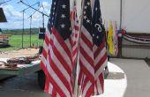 Base de drapeau d'affichage : Angle réglable 7-drapeau Bouquet