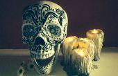 Halloween grungy colle chaude goutte à goutte bougies