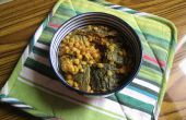 Chanay ke karela daal (split pois chiches ou haricots pois chiches à la courge amère)