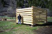 Comment construire une cabane en rondins avec les encoches de la queue d'aronde