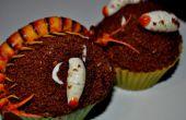 Cupcake mille-pattes et les larves de