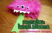 Manchon livre monstre avec signet langue
