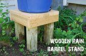 Stand de baril de pluie en bois