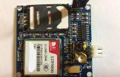 À l'aide d'un module GSM/GPRS de SIM900A en Australie