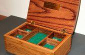 Boîte à bijoux chêne avec boîte de coconstruction