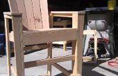 Bar chaises Adirondack de hauteur de chute de bois
