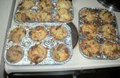 CHARGÉ deux fois cuit cupcakes pomme de terre
