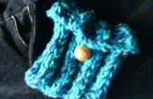 Sac à main tricoté de couleur océan