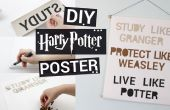 Poster de Harry Potter bricolage