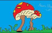 Doodle : Un sac à dos, Dauphin & champignon à l'aide de Microsoft Paint