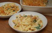 Génial macaroni au fromage avec pancetta & épinards