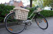 Sac toile de jute pour panier de vélo