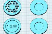 3D imprimés palmés Poker Chip