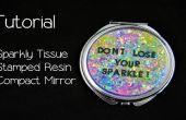 « Ne perdez pas votre éclat » résine miroir Compact