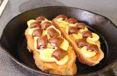 Beurre d'arachides banane chocolat Sandwiches