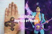 Aime la peinture de visage symbole (inspiré par Prince)