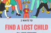 2 conseils pour trouver rapidement un enfant perdu dans une foule
