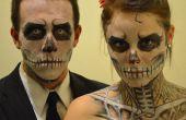 Maquillage d'Halloween squelette