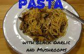 Pâtes à l'ail noir et champignon