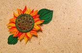 Comment faire la conception de fleur soleil jaune, à l'aide de papier d'Art Quilling