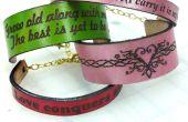 Laser de Bracelets de cuir gravé - cadeaux Saint Valentin