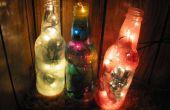 Coloré recyclé bouteille lampe