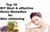 Top 10 meilleurs bricolage & remèdes à la maison efficace pour la peau blanchissant