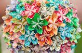 Bouquet de fleurs Kusudama