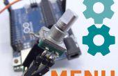 Arduino facile des Menus pour les encodeurs rotatifs