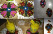 Facile à faire - recycler CD Coaster, Tenture murale et aimants pour réfrigérateur