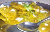 Cluster haricots / Gavarfali Dhokli avec le blé farine recette indienne boulettes-bricolage