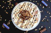 TARTE à la crème glacée SNICKERS CARMAEL sablé
